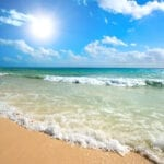 Beautiful beach - waves - Caribbean Sea